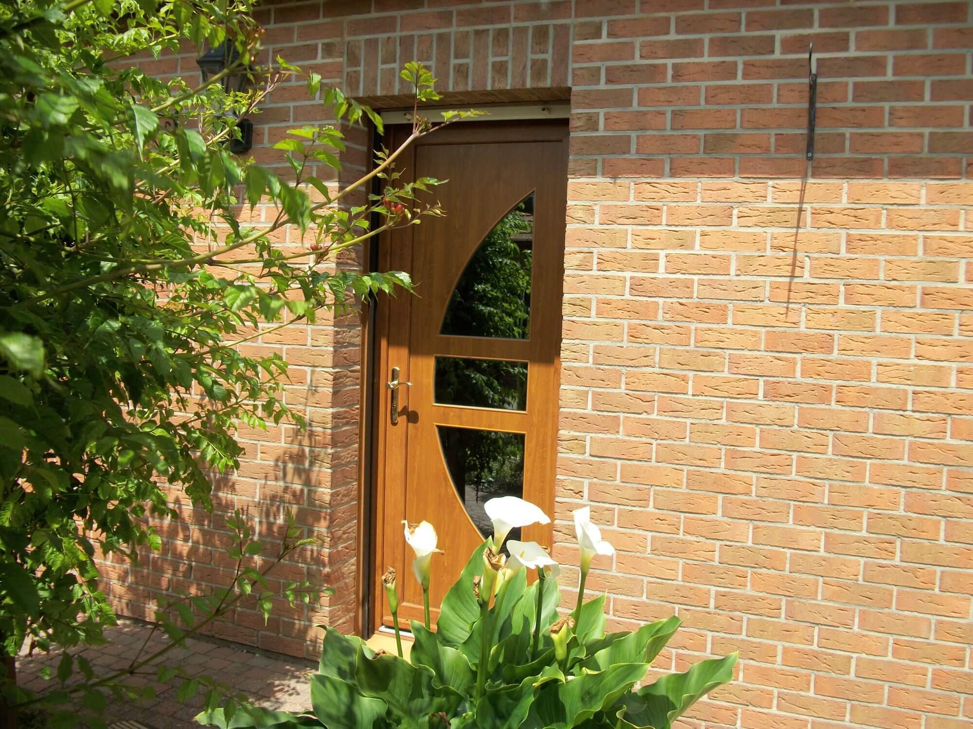 Porte d'entrée bois - Réalisation Inorbat